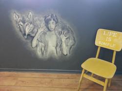 ציור קיר בגלריית דר צבע