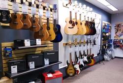 Guitars, ukuleles, amps, music acces
