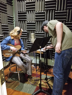 Max getting Emily set up to record v