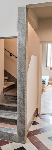 Ancient stairs to penthouse