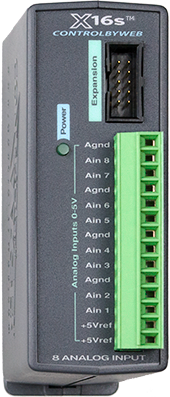 X-16s™ | Eight Analog Input Expansion Module