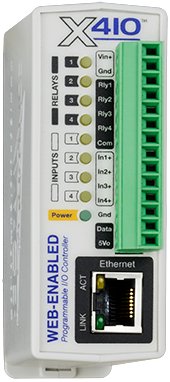 X-410™ | Web-Enabled Programmable Controller