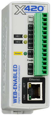 X-420™ | Web-Enabled Instrumentation-Grade Data Acquisition