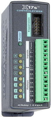 X-17s™ | 4 Relay, 4 Input Expansion Module