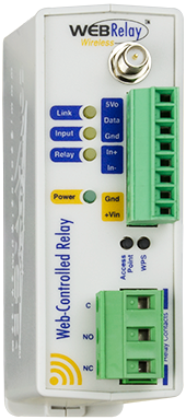 WebRelay Wireless™ | Single Relay, Single Input, Up to 4 Temperature Sensors