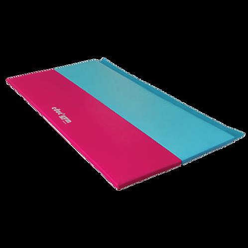 GYMNOVA - Matelas pliant bleu/rouge 2 x 1m x 4cm  - educ'gym