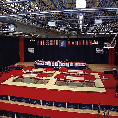 GYMNOVA - Aire de sécurité FIG pour 4 trampolines de compétition