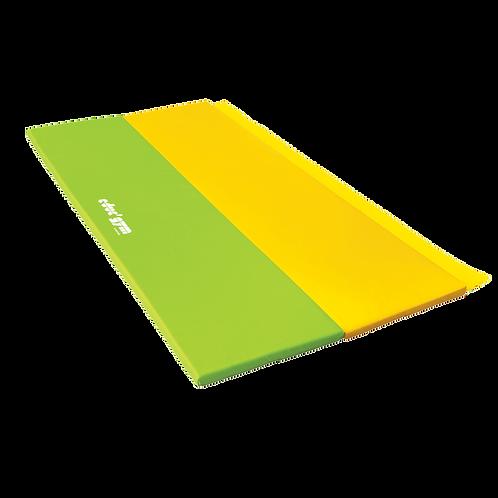 GYMNOVA - Tapis pliant 2 x 1m x 4cm vert/jaune - educ'gym
