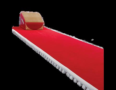 GYMNOVA - Piste avec mousse et moquette (rouge) - 1m50 x 2m