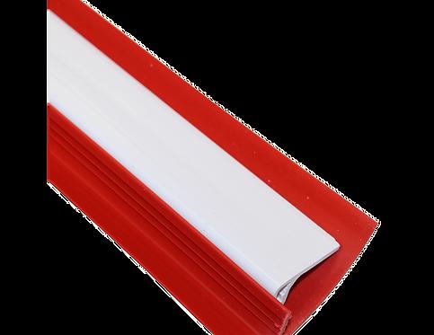GYMNOVA - Ensemble de 10 profilés de finition femelle - blanc et mâle - rouge