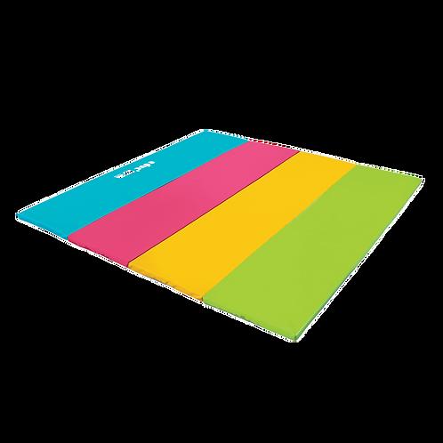 GYMNOVA - Aire d'évolution pliante multicolore - 200 x 200 x 4cm - educ'gym