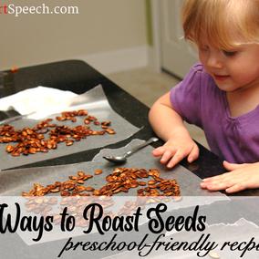 3 Ways to Make Preschool-Friendly Roasted Pumpkin Seeds!