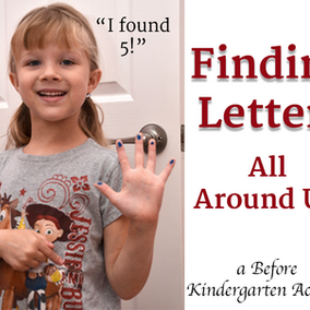 I Found 5! A Fun and Easy way to Practice Letter Identification