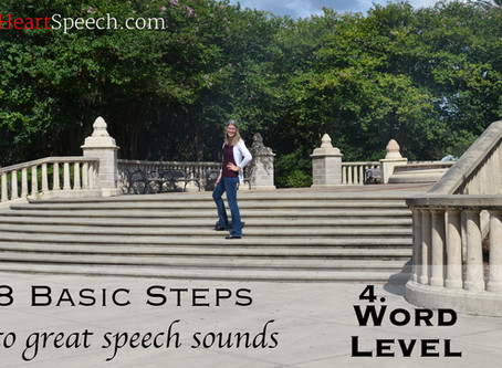 8 Basic Steps to Great Speech Sounds! - Step 4 - Word Level