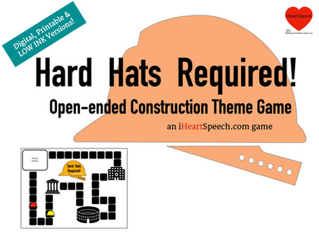 Hard Hats Required! an open ended construction themed game
