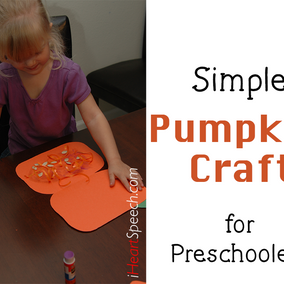 Simple Pumpkin Craft and Decoration for Preschoolers