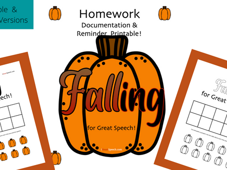 FALLing for Great Speech - a FUN homework documentation page