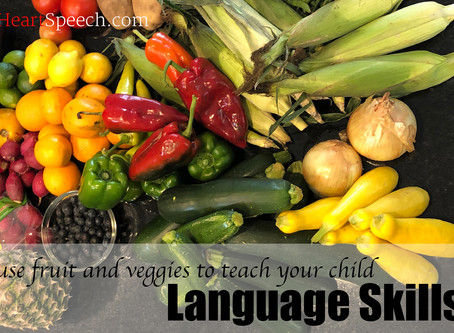 How to Use Fruit & Veggies to Develop Language Skills