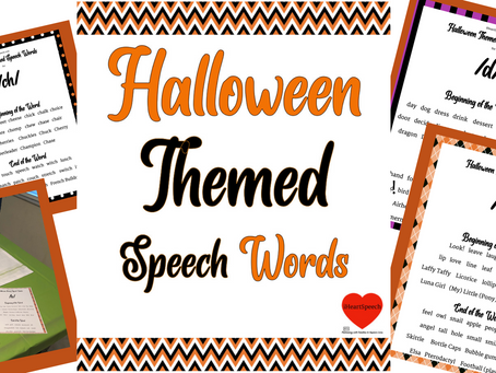 Halloween Themed Speech Words