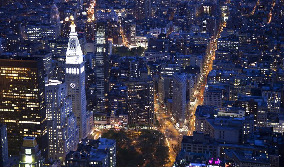 Aerial view of the Flatiron in Manhattan