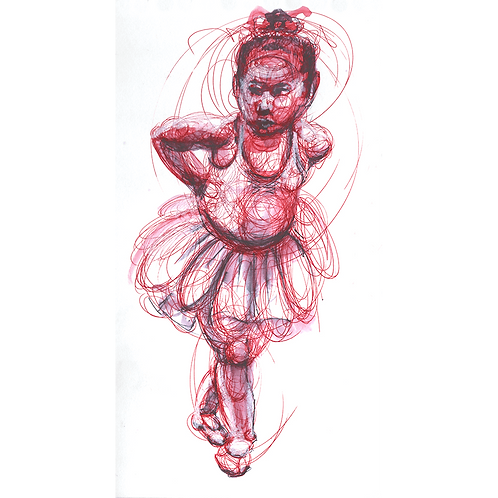 Little Dancer - original ink drawing