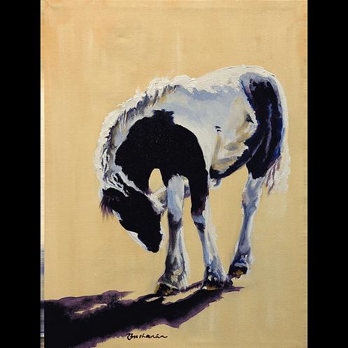 Stubble Itch - original oil on canvas