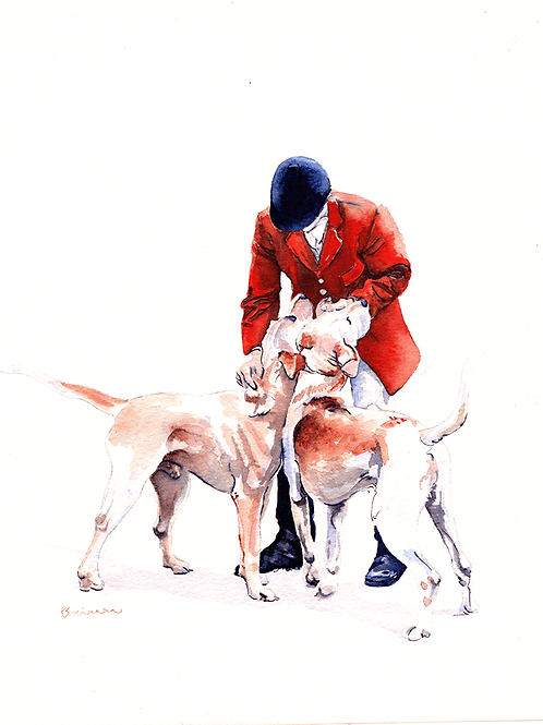 Double Time - Original pen and watercolour painting on board