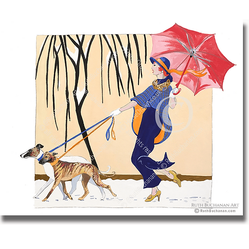 La Parapluie Rouge (Red Umbrella)
