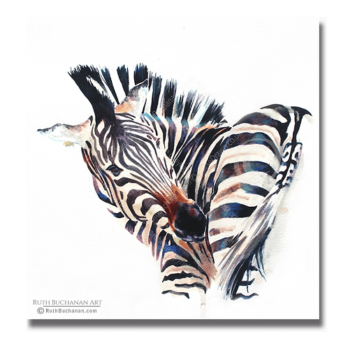 Rainbow Stripes - Square Greetings Card