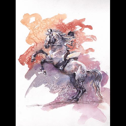 Rear - original Watercolour painting