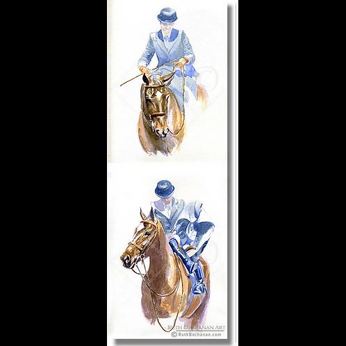Horse & Habit - DL Greetings Card