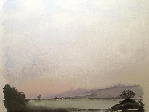 'Cut Out Greys' Original Watercolour Painting