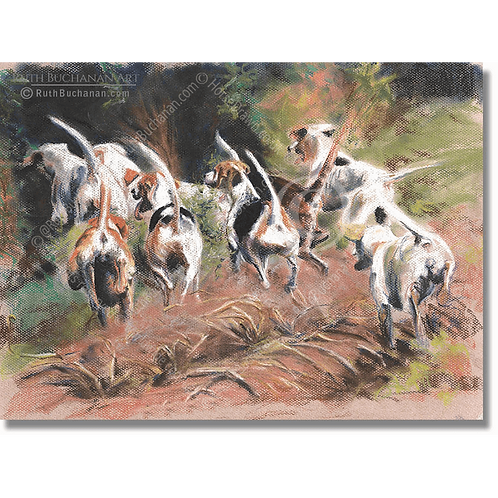 Hounds Working - A5 Greetings Card