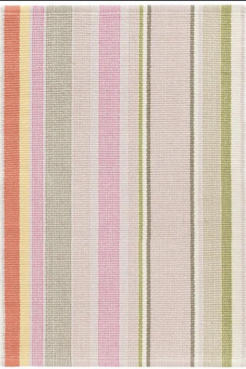 Paris Stripe Cotton Rug 2x3