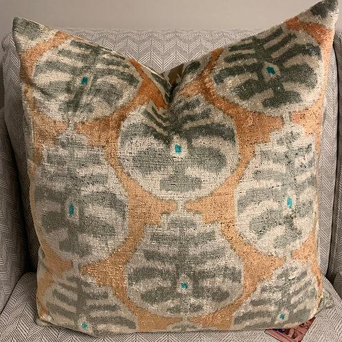 Silk Ikat Pillow 22x22