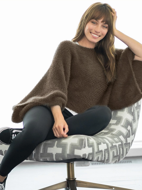 Chalet Slouch Sweater - Mushroom