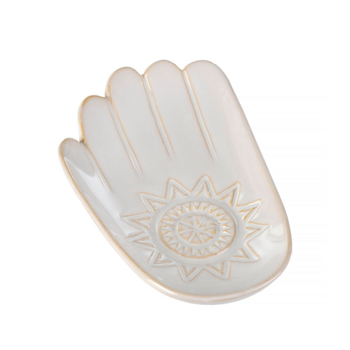 Hand Dish, White