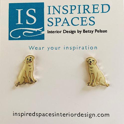 Yellow Lab Earrings