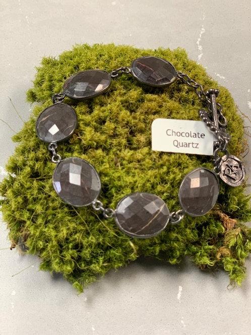 Chocolate Quartz Posy Bracelet