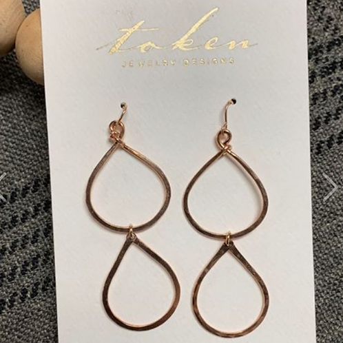 Rose Gold Fill Stacked Hoop Earrings