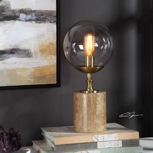 Brown Marble Accent Lamp