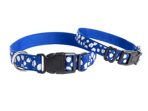 Dalmatian Blue/White Collar - M/L