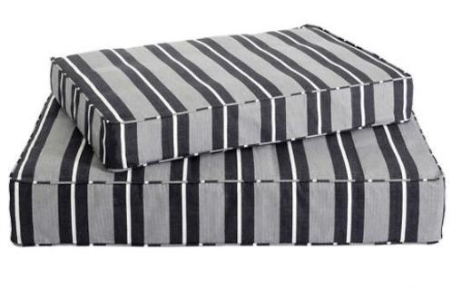 Black Stripe Dog Bed - M