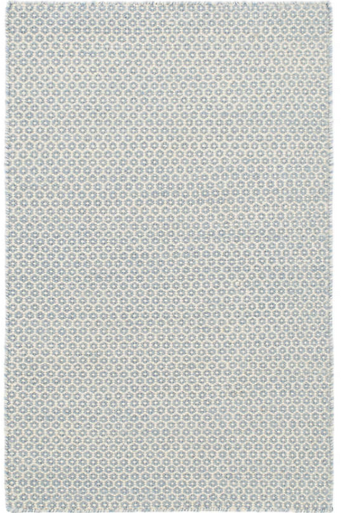 French Blue/Ivory Woven Wool 2x3
