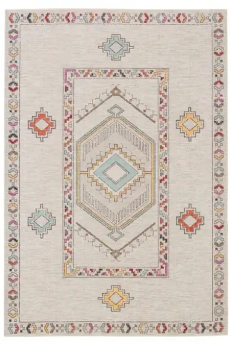 Border Design Indoor/Outdoor 2x3 Rug