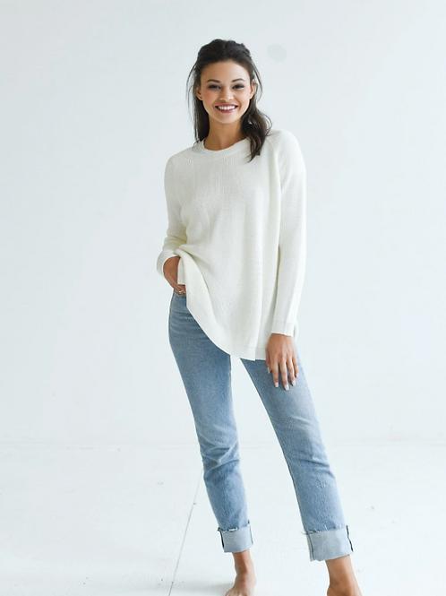 Camden Travel Sweater - White
