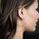 Thumbnail: Rose Gold Heart Hoop Earrings