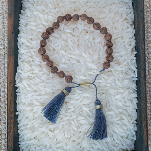 Stone Blue Tassel Bracelet