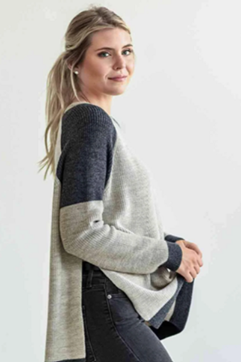 Shoulder Block Sweater