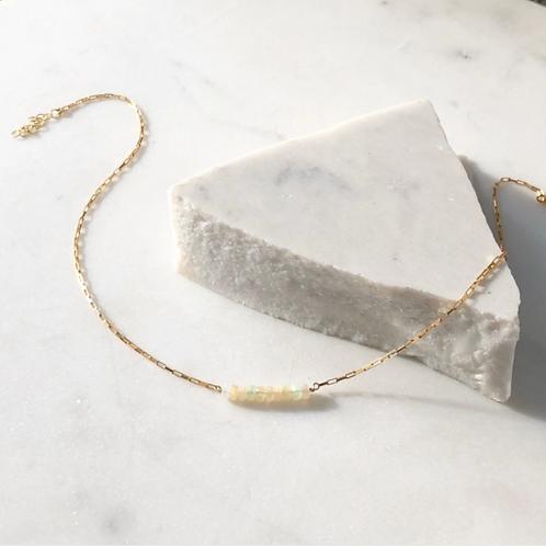 Opal Gemstone Gold Necklace